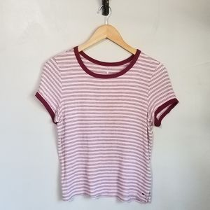 American Eagle striped soft and sexy cropped top